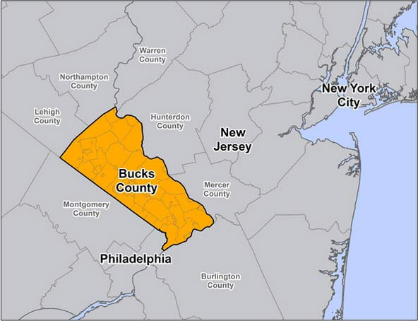 Bucks County Map
